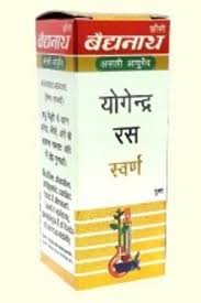 Baidyanath Yogendra Ras with Gold, 10 tablet ( 2 pack )