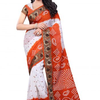 Bandhani saree (Montage creation self-Design)